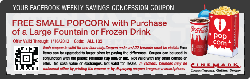Cinemark coupons