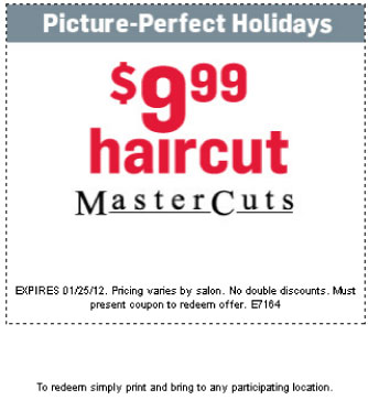 graphic regarding Mastercut Coupons Printable referred to as Mastercuts hair salon discount codes - Wild drinking water west promotions