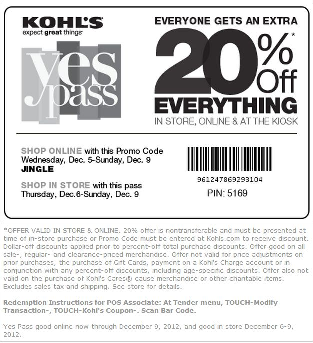It's just an image of Persnickety Kohls 10 Off Coupons Printable
