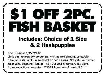 picture regarding Long John Silver Printable Coupons identify Lengthy john silvers coupon codes 2018 - Boat specials