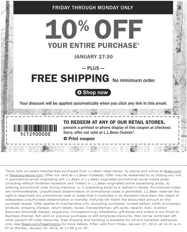 Ll bean coupon code 2018
