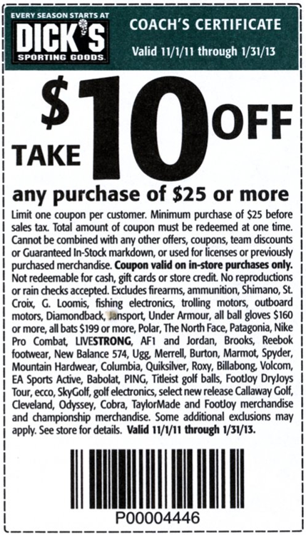 Dicks sporting goods discount coupon