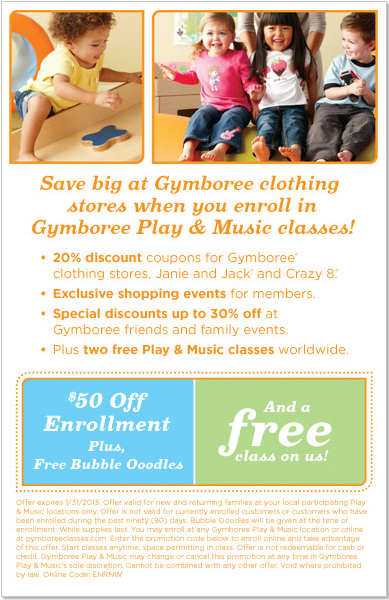 It's just an image of Rare Gymboree Coupon in Store Printable