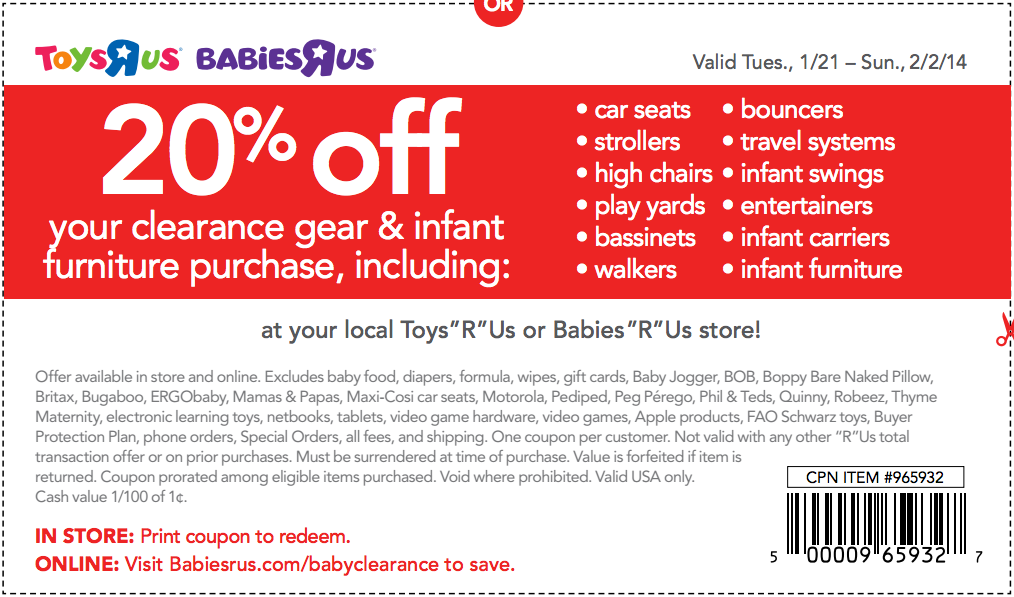 Babies r us coupon code 2018