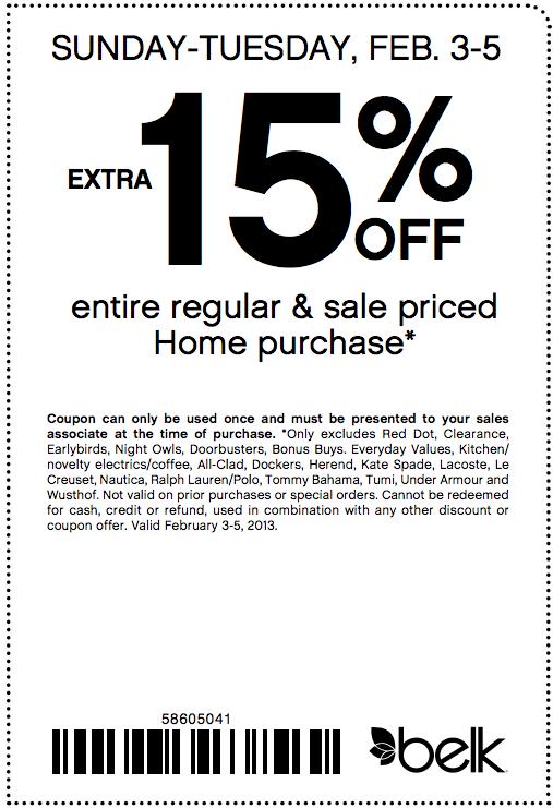 Printable coupons for belk department store