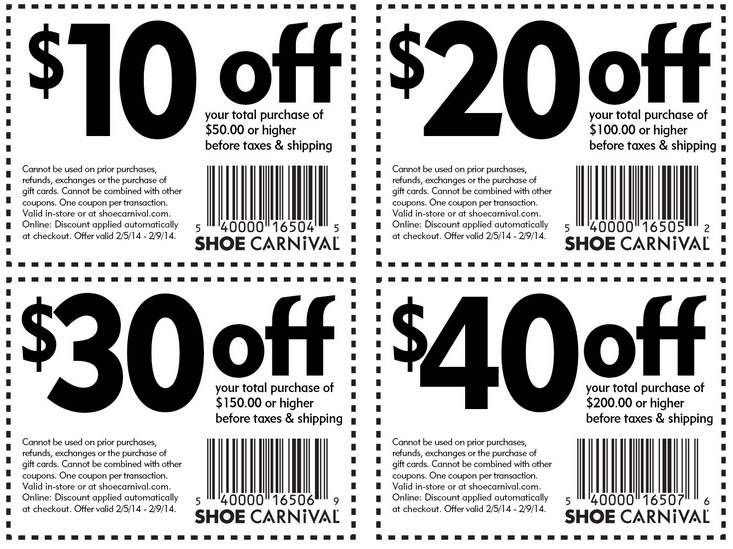 About Shoe Carnival Coupon Code