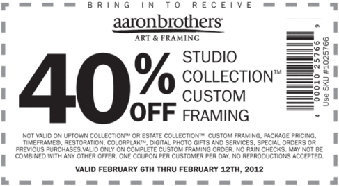 Aaron brothers 40 off printable coupon for American frame coupon code