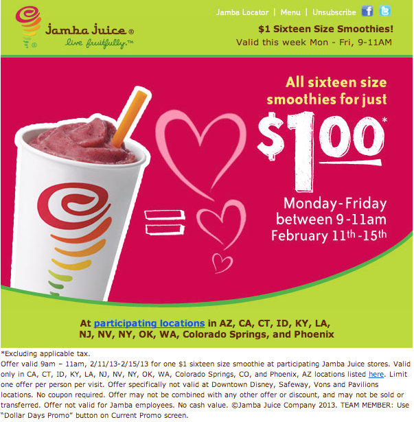 picture regarding Tractor Supply Coupon Printable titled Jamba juice printable discount coupons 2018 - Las vegas clearly show bargains 2018