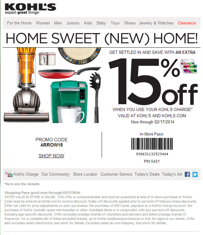 This is a photo of Juicy Kohls Printable Coupon 15