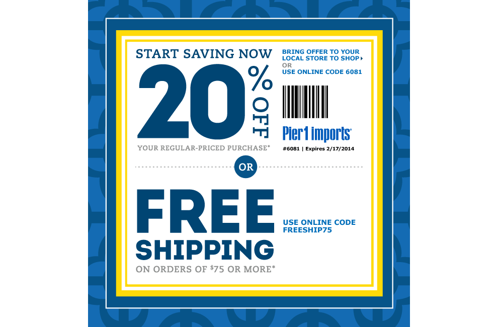 It is an image of Crazy Pier One Coupon Printable