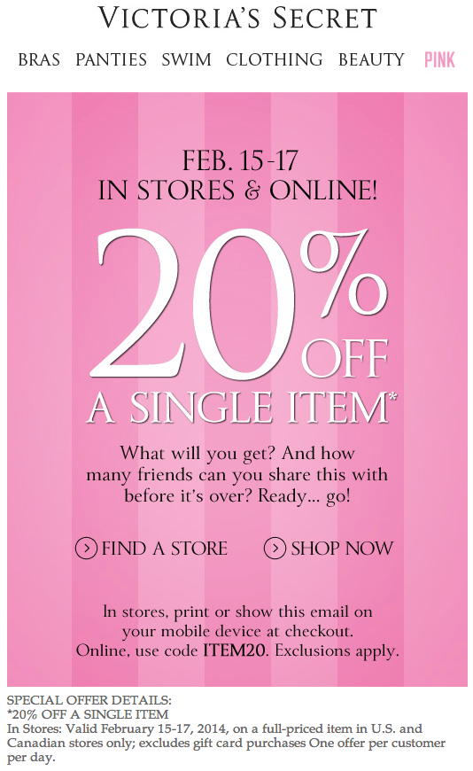 Victoria secret discount coupon