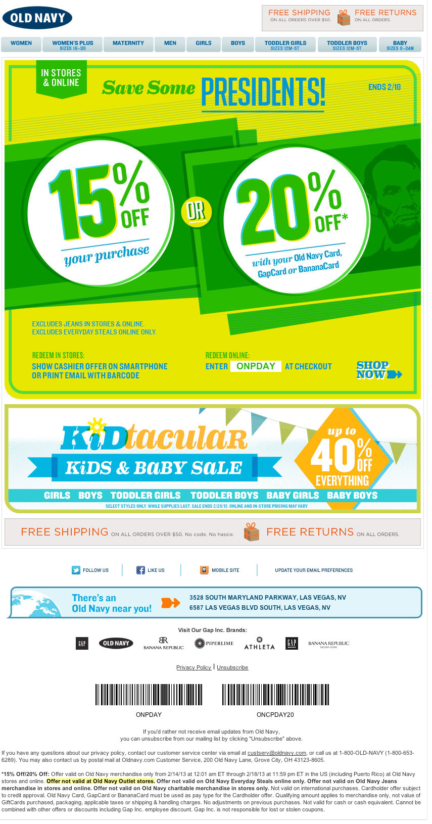 Printable old navy coupons feb 2018