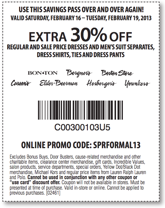 graphic relating to Bon Ton Printable Coupon named Herbergers retailer coupon / Bundt cake discount coupons 2018