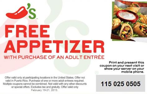 chilis free appetizer printable coupon