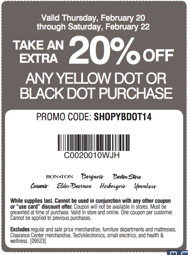 Younkers yellow dot printable coupon