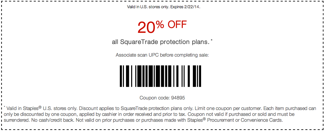 Squaretrade discount coupon