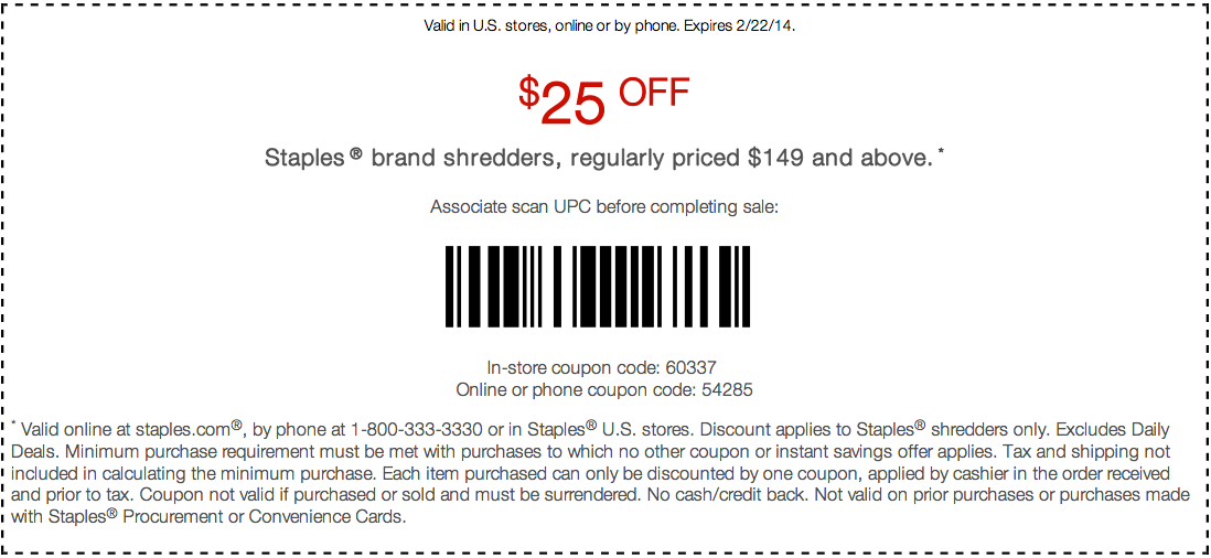 photo regarding Staples Printable Coupon called 25 off coupon staples / Haven financial institution trip discounts