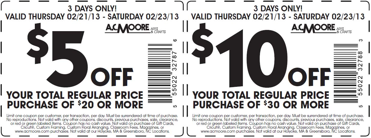 photograph about Ac Moore Printable Coupon known as Ac moore printable discount coupons november 2018 - Ulta 20 off