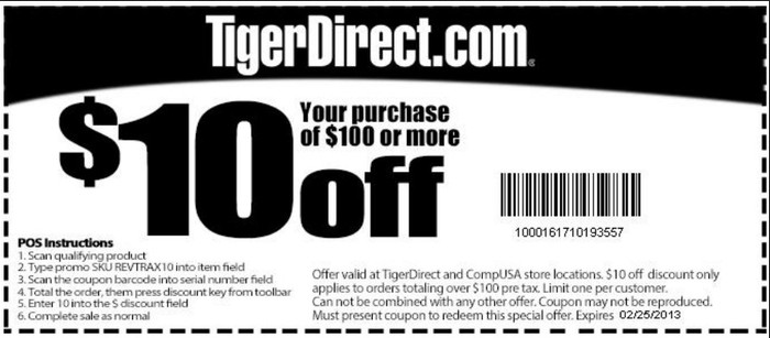 Tiger direct coupon codes