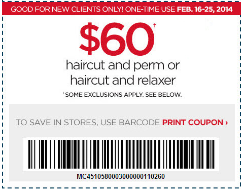 Salon discount coupons