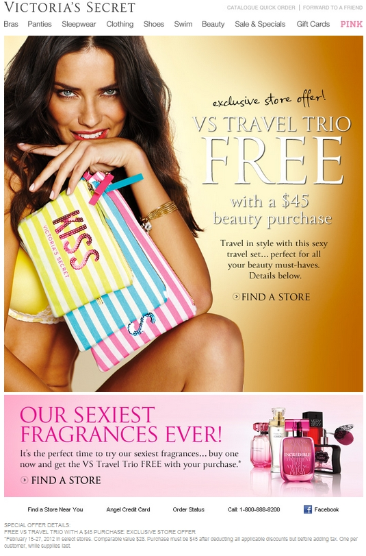 How to get victoria secret coupons in the mail