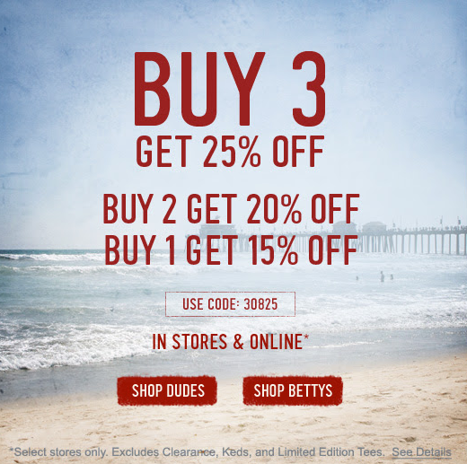 Hollister: 15%-25% off Printable Coupon