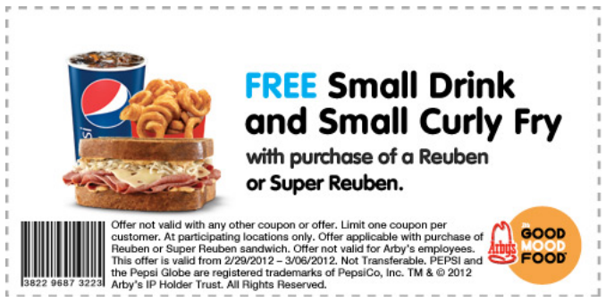 picture regarding Printable Arbys Coupons identify Arbys discount coupons printable oct 2018 : Offers inside las vegas