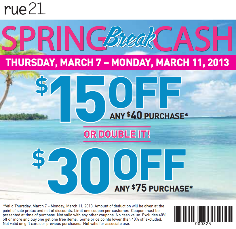 picture relating to Rue 21 Coupon Printable titled Rue 21 discount coupons 40 off / Swagbucks codes for at present