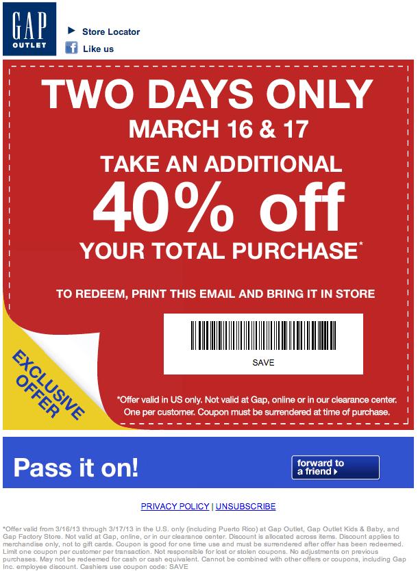 gap 40 off printable coupon