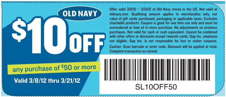 Old Navy has offered a sitewide coupon (good for all transactions) for 30 of the last 30 days. As coupon experts in business since , the best coupon we have seen at vegamepc.tk was for 50% off in November of