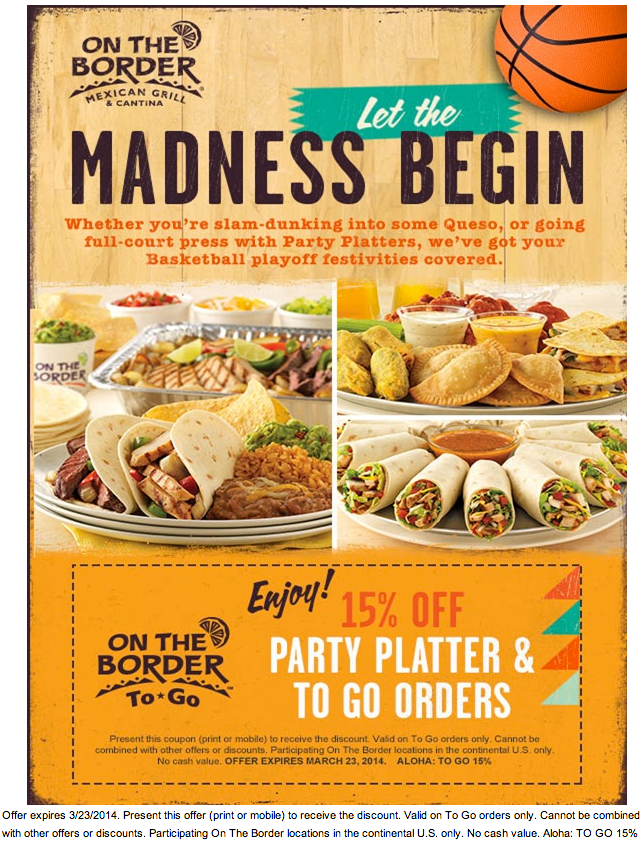 on the border 15 off party platter printable coupon