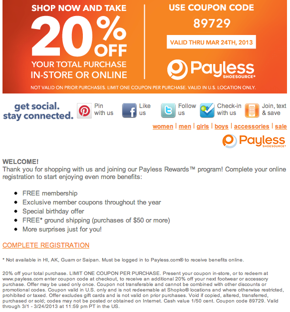 Payless printable coupons may 2019