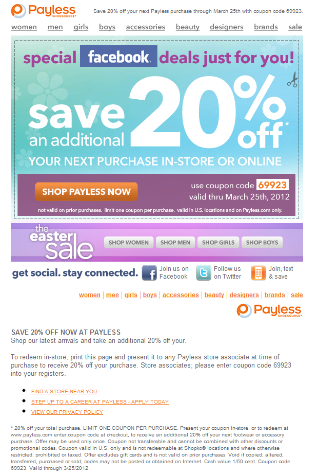 Payless shoe source coupon codes june 2018