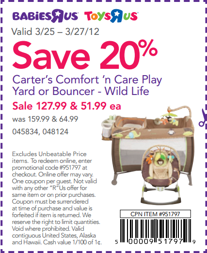 Toys R Us 20 Off : Toys r us off bouncer printable coupon