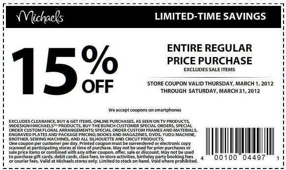Michaels arts and crafts coupons may 2018