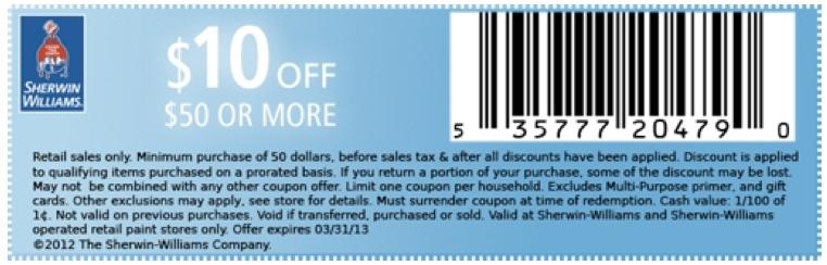 Sherwin williams coupon code