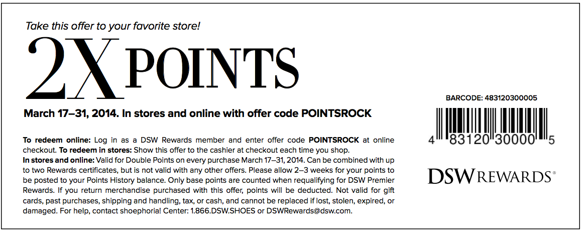 Point print coupons
