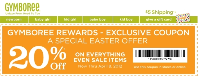 Gymboree Promo Coupon Codes and Printable Coupons PFEMOiiT