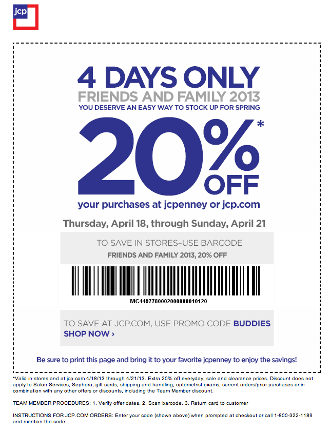 Jcpenny discount coupon