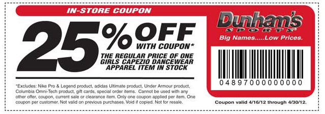 Dunhams Sporting Goods Coupons