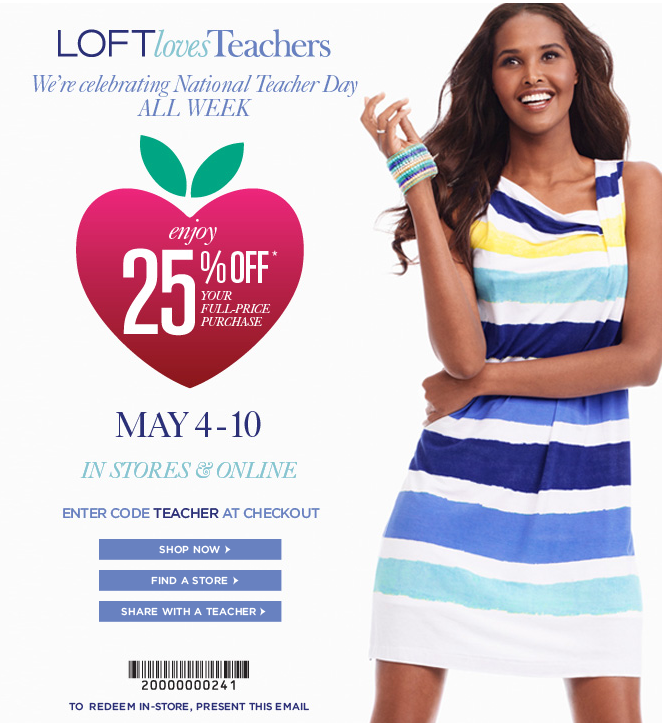 image about Loft Coupon Printable named Coupon ann taylor loft / Chase coupon 125 cash