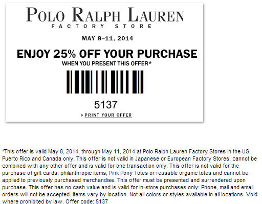 Ralph lauren coupon code