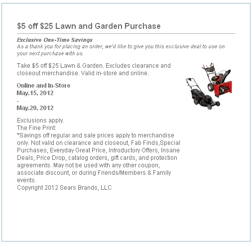 Sears coupon code for lawn tractor ocharleys coupon nov 2018 sears coupon code for lawn tractor fandeluxe Image collections