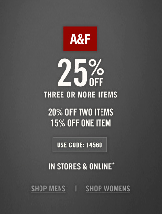 Abercrombie coupon codes