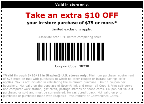 Staples 25 off 75 in store coupon printable