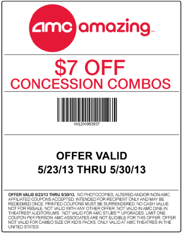 Amc discount coupons