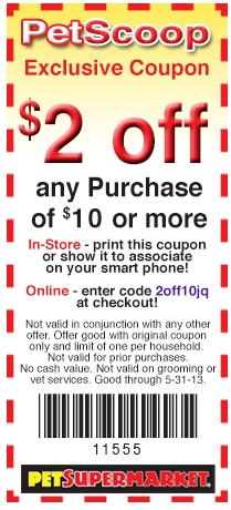 Pet-Supermarket Promo Coupon Codes and Printable Coupons