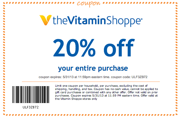 warehousepowrsu.ml has been tracking The Vitamin Shoppe coupons & deals since July The first coupon we ever posted for The Vitamin Shoppe was a $10 .