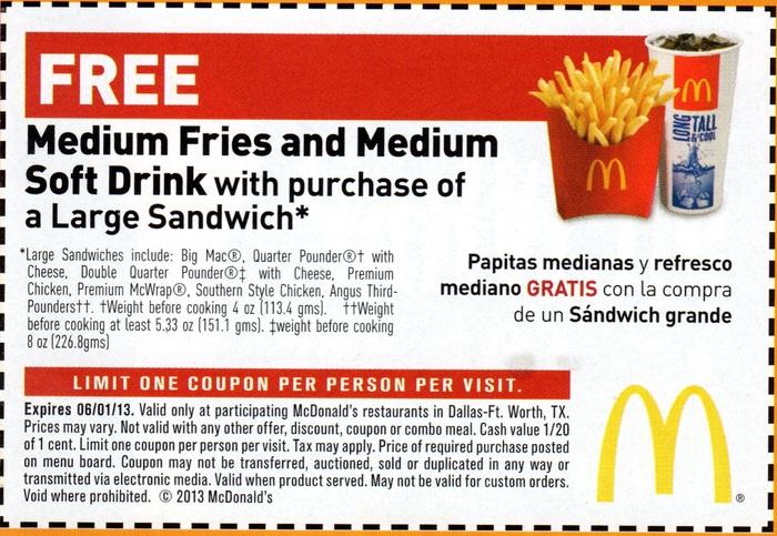 mcdonalds free medium fries printable coupon