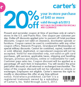 photograph relating to Carters Printable Coupons named Carters 25 discount coupons printable / Largest sequence coupon code 2018
